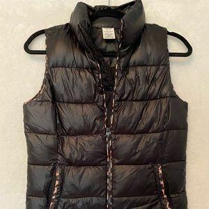 Victoria's Secret Pink leopard puffer vest